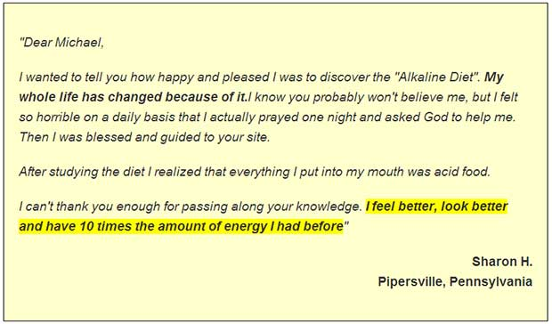 Acid alkaline diet comment