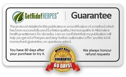 get rid of herpes book guarantee