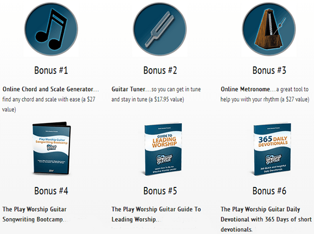 Play worship guitar 6 Bonuses