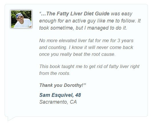 Dorothy testimonial for fatty liver diet
