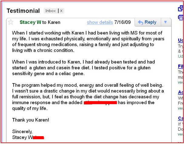 Testimonial leaky gut cure