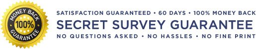 Secret survey money back guarantee