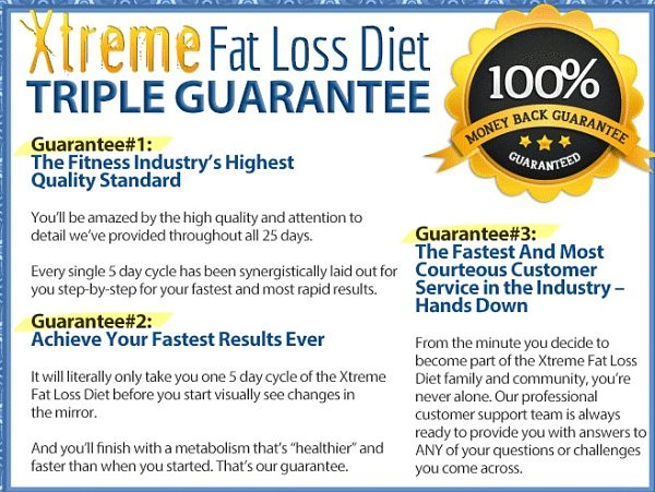 Xtreme fat loss diet guarantee