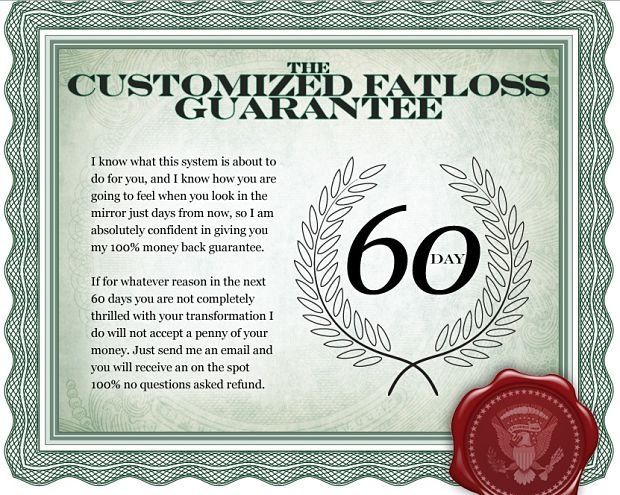 customized fat loss Guarantee