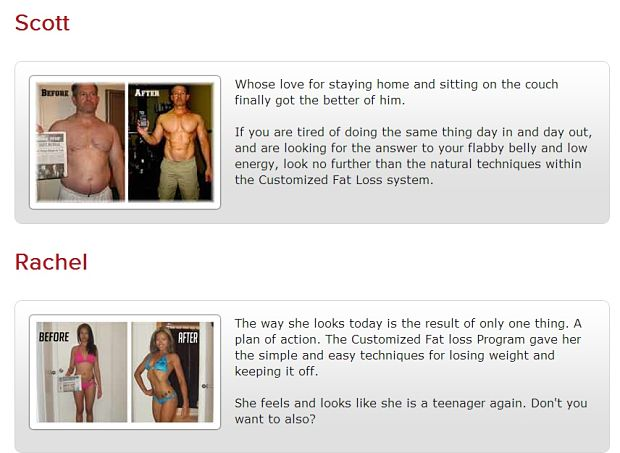 customized fat loss Scott and Rachel