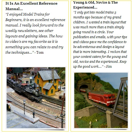 Model trains for beginners testimonial