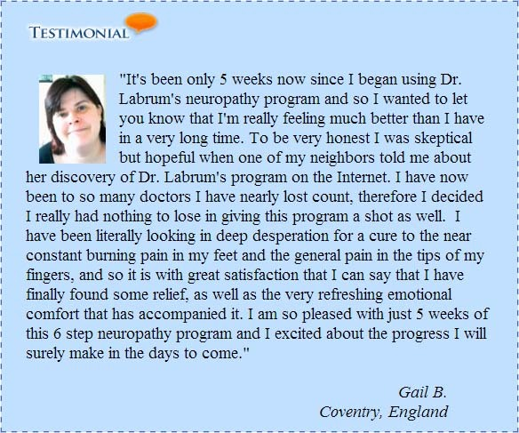 Testimonial for Neuropathy solution
