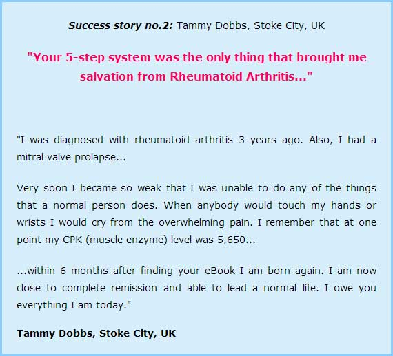 Testimonial for autoimmunity bible and norton protocol