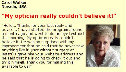 Vision without glasses testimonial