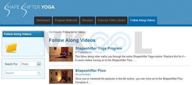 Shapeshifter yoga membership site follow along videos