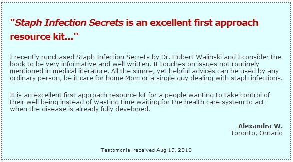 Staph infection secrets