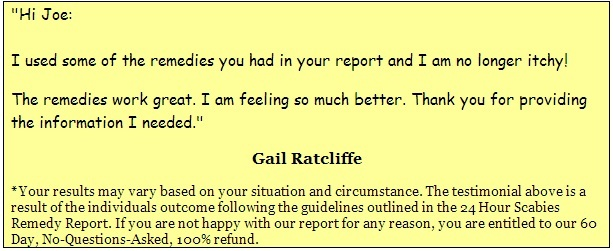 The scabies 24 hour natural remedy report comments