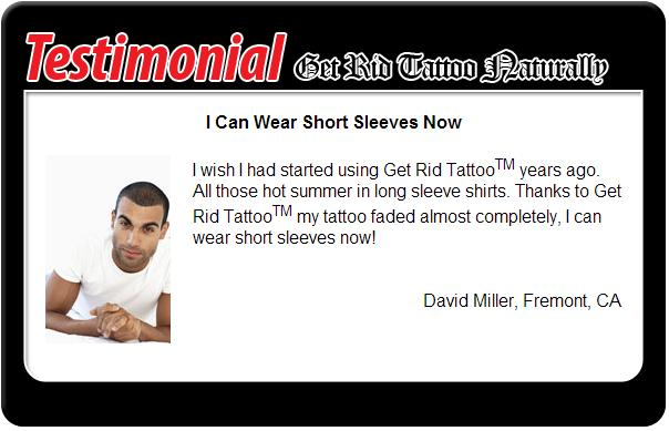 get rid tattoo naturally