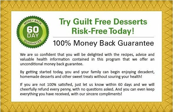 guilt free desserts guarantee