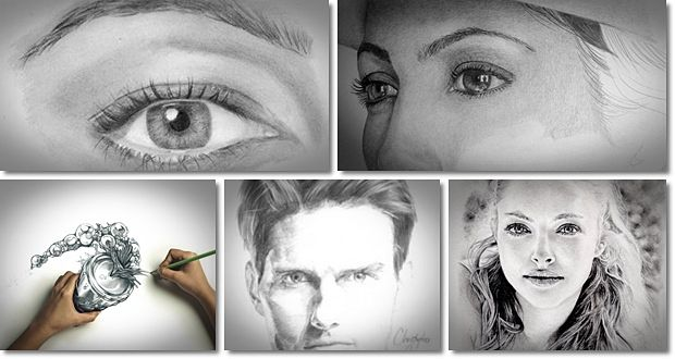 realistic pencil portrait mastery picture 1