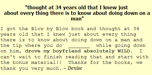 blow by blow Denise Testimonial