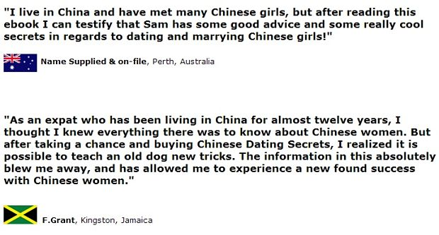chinese dating secrets exposed review F.Grant