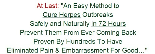 how to cure herpes at home