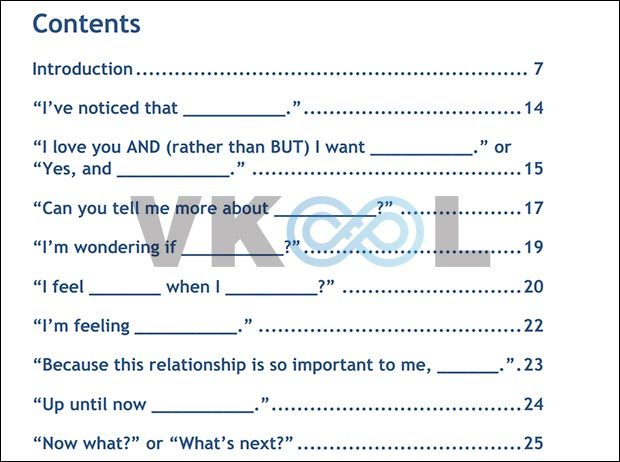 Magic relationship words table of content