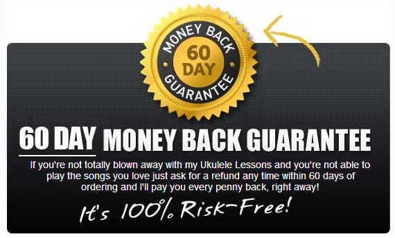 Ukulele buddy 60 day money back guarantee