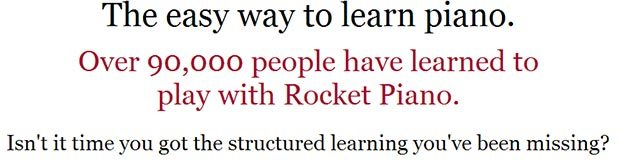 Rocket piano course