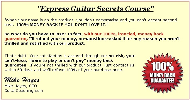 guitar techniques and express guitar