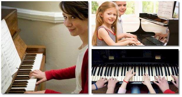 Play piano with keyboard and pianoforall