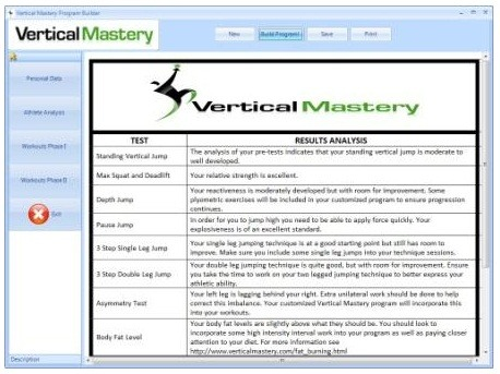 vertical jump program with vertical mastery