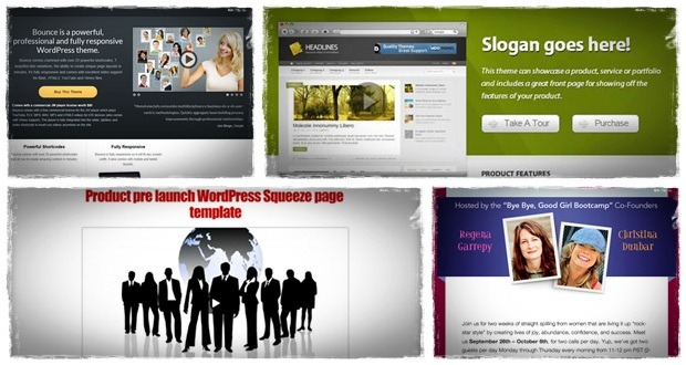 wordpress squeeze page theme with wordpress squeeze page plugin