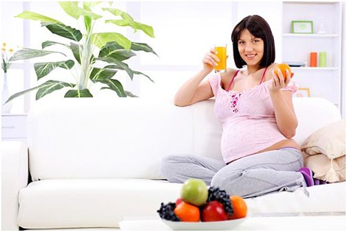 healthy diet for pregnant women chart