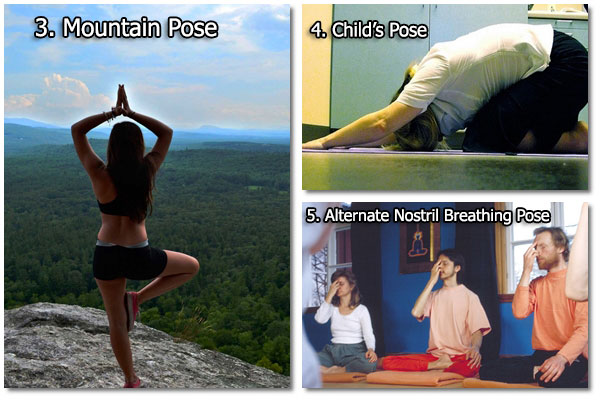 Mountain, Child's &  Alternate Nostril Breathing Pose - Yoga Exercises