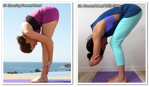 Standing Forward Bend & Forward Bend With Fists - Yoga Exercises