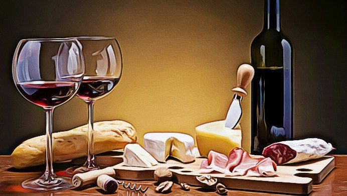 pairing wine and food poster