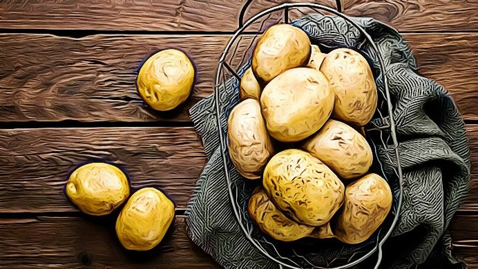 benefits of potatoes on eyes