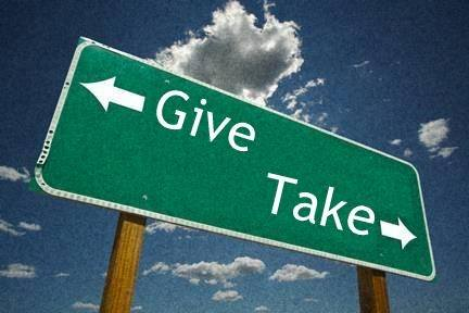 learn to give and take