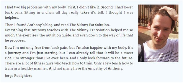 Skinny fat solution comment