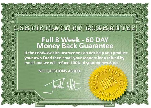 food 4 wealth review guarantee