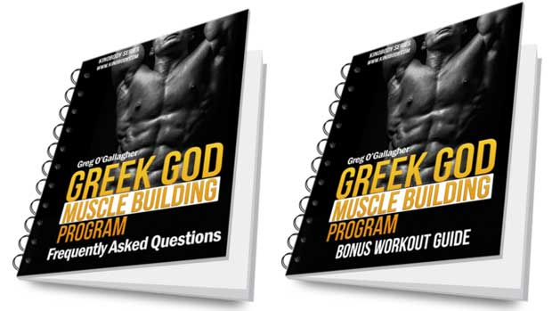 Greek god muscle building program packge bonuses