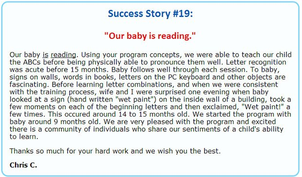 Children learning reading comment