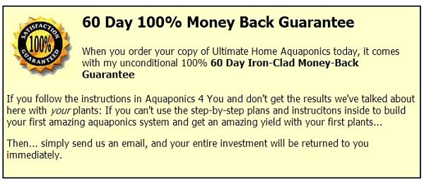 Aquaponics 4 you guarantee review