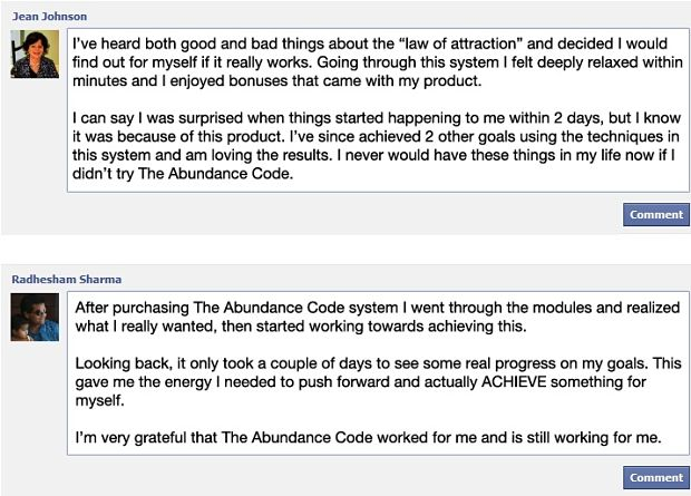 abundance code reviews Jean Johnson and Radhesham Sharma
