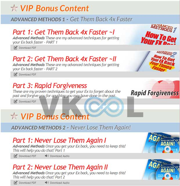 How to get ex back system VIP bobus content