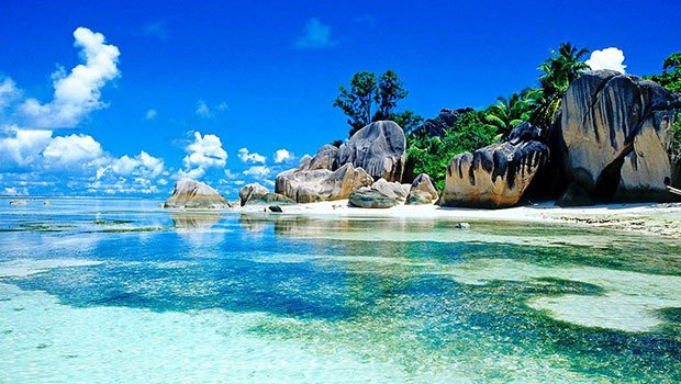 Beautiful island countries seychelles