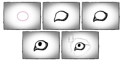 how to draw dog's eyes