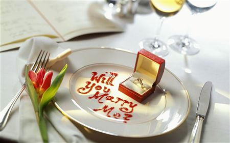 romantic marriage proposal ideas - marriage proposals with food or at restaurants