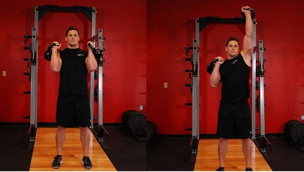 Alternating kettlebell press review
