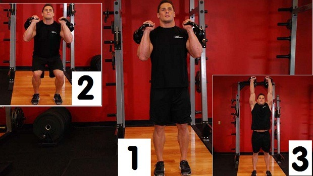 Double kettlebell push press review