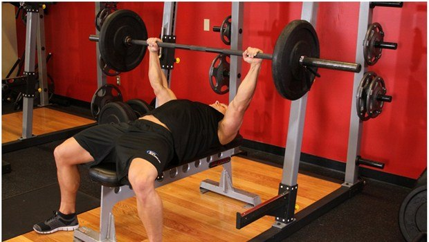 barbell bench press