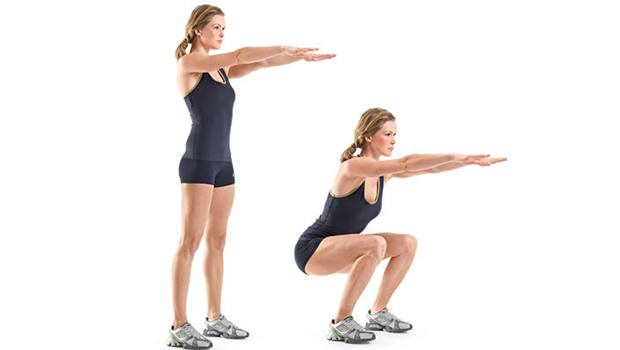 Body-Weight Squat - Fat-Burning Ab Exercises