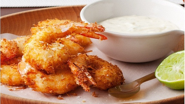 coconut crumbed prawns with lime aioli review